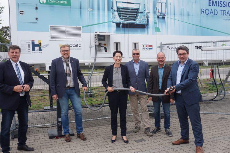 Besuch der Landratskandidatin Silke Gorißen bei Wystrach in Weeze